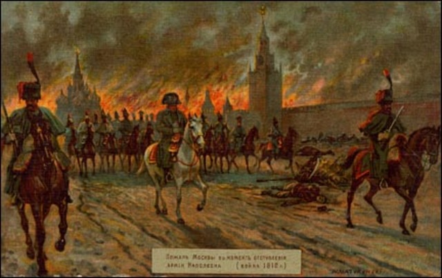 Napoleon arrives to abandoned Moscow during invasion