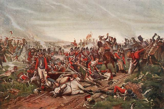 Napoleon defeated at Battle of Waterloo