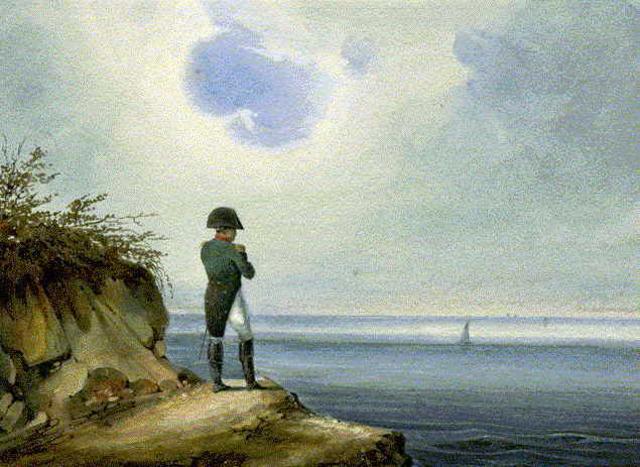 Napoleon exiled to Saint Helena