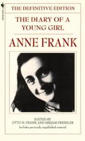 Anne Frank's diary is published