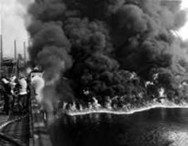 Cuyahoga River In Cleveland, Ohio Caught Fire