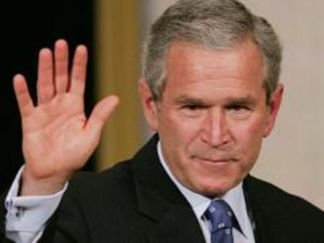 Grorge Bushs søn George W. Bush Jr. overtog magten i USA
