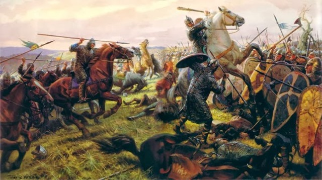 Henry I of England defeats his older brother Robert Curthose, duke of Normandy, at the Battle of Tinchebrai