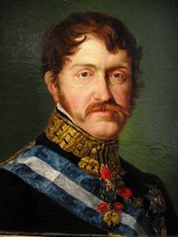 Carlos María Isidro de Borbón recibe orden de Fernando VII de dejar España y trasladarse a los Estados Pontificios, al no aceptar la Pragmática Sanción