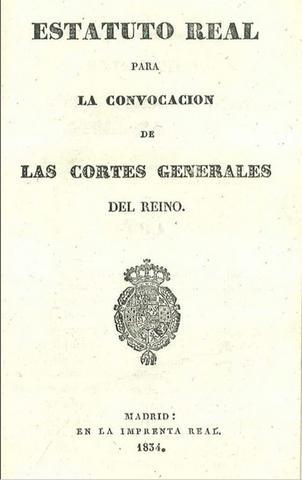Martínez de la Rosa manda decretar un Estatuto Real inspirado en la Carta francesa de 1814