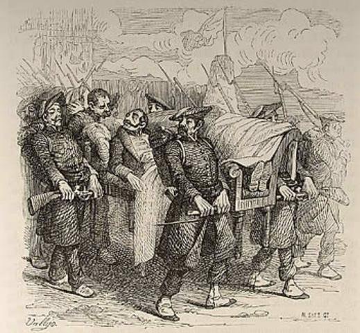 Zumalacárregui es disparado en la pierna y se retira de la dirección militar del asedio de Bilbao