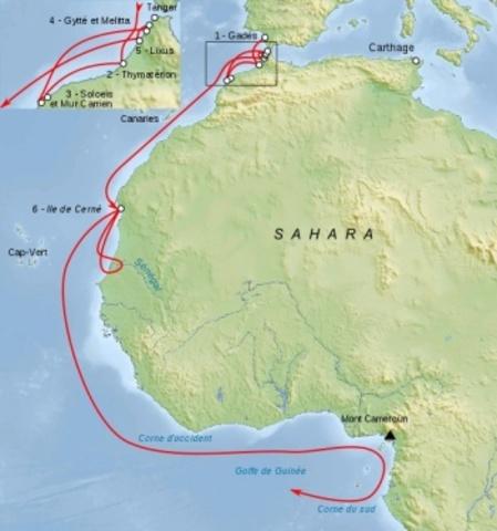 Морское кругосветное путешествие Ганнона (505 г. до н.э.)