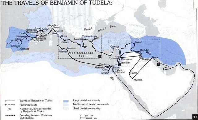 Путешествия Вениамина Тудельского (1160–1173)