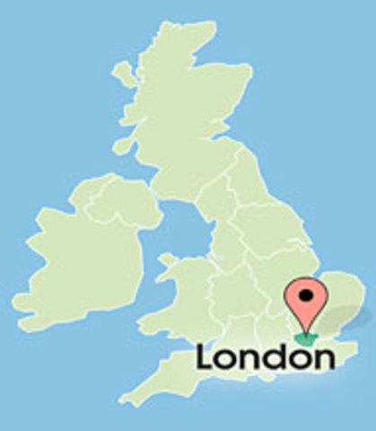 Flight to London, UK