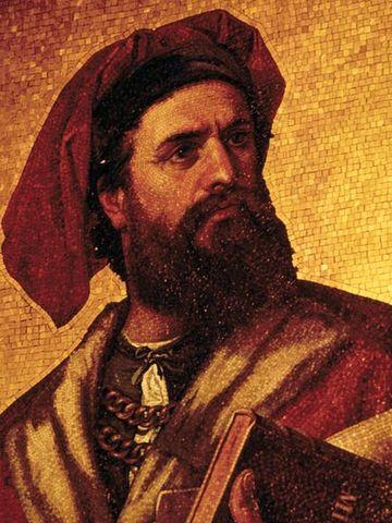 Marco Polo publishes his tales of China, along with Rustichello da Pisa.