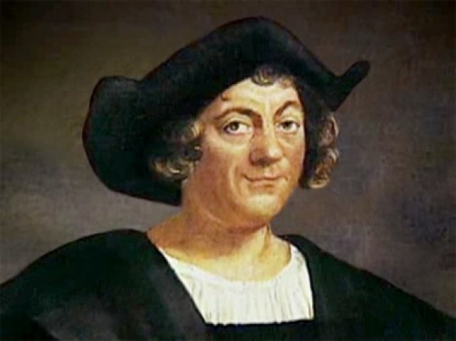 Christopher Columbus reaches the New World.