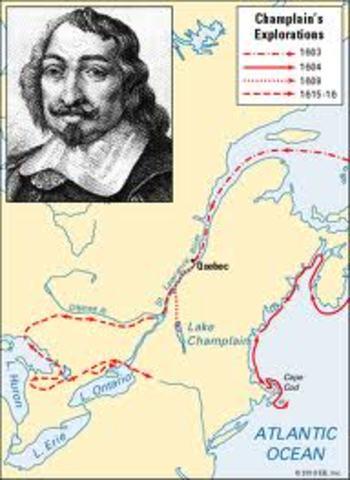 Samuel de Champlain settles in North America