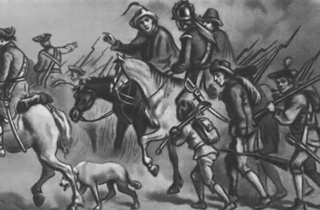 Первый бой у Конкорда и Лексингтона в Массачусетсе