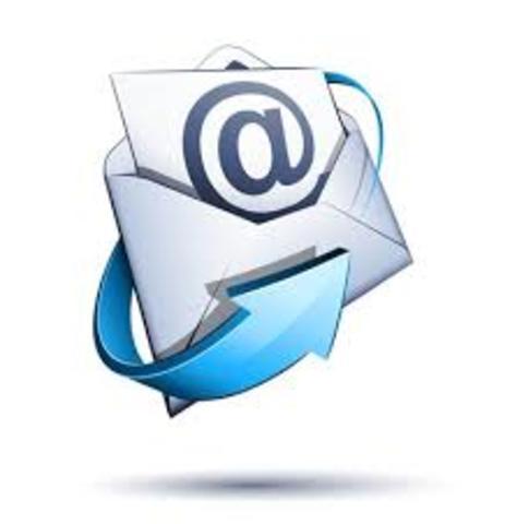 1971 O primeiro e-mail é enviado