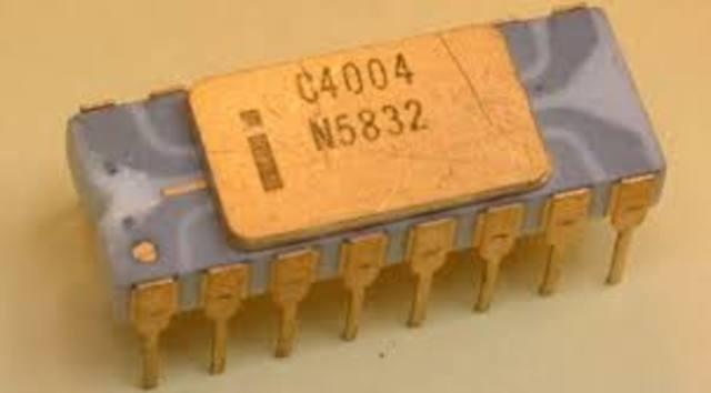 Criado o primeiro microprocessador o Intel 4004