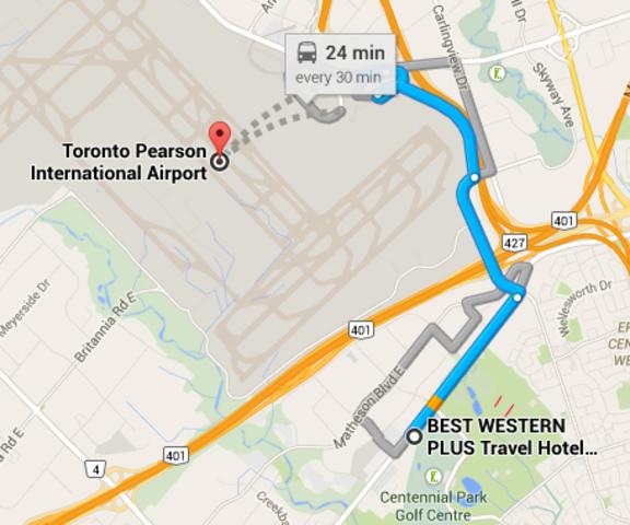(7) Drive to Toronto Airport