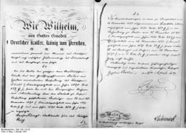 Constitution Drafted by Bismark