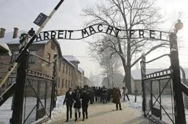 Auschwitz camps are officially opened