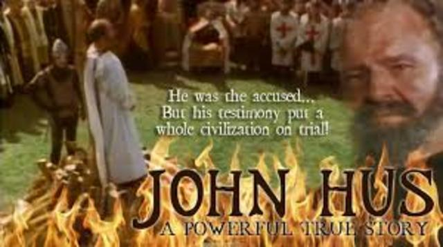 John Hus' death