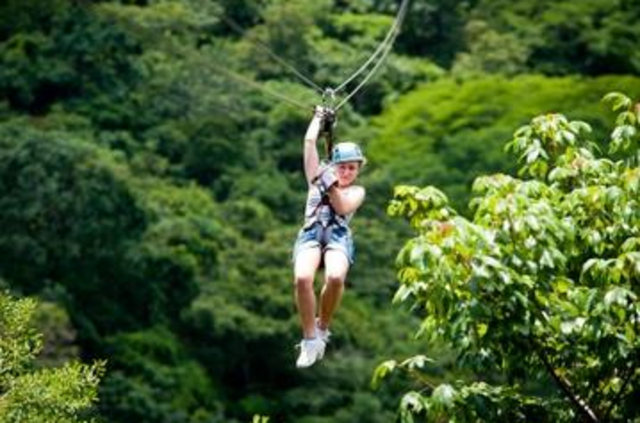 Ziplining in Guatemala