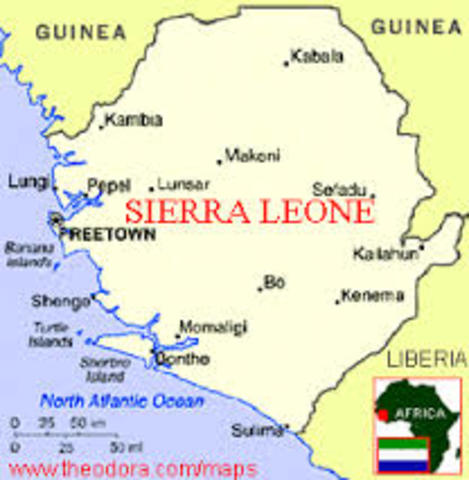 Small Scale Map of Sierra Leone
