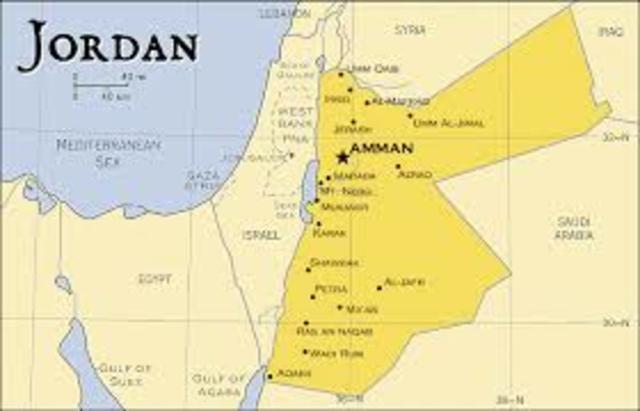 Small Scale Map of Jordan