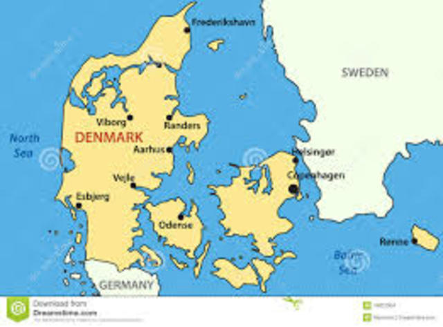Small Scale Map of Denmark