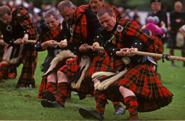 The Highland Games continued