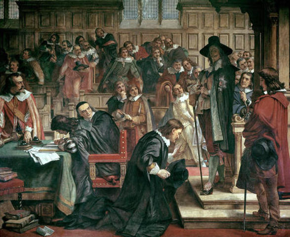 Conflict between Parliament and King in England