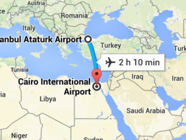 (21) Flight from Istanbul to Cairo (Connecting Flight)