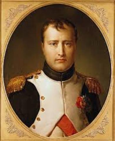 The reign of Napoleon began
