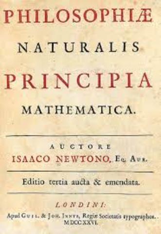 Newton publishes the Principa Matematica