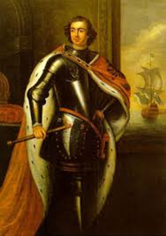 Glorious Revolution, Peter the Great rules Russia
