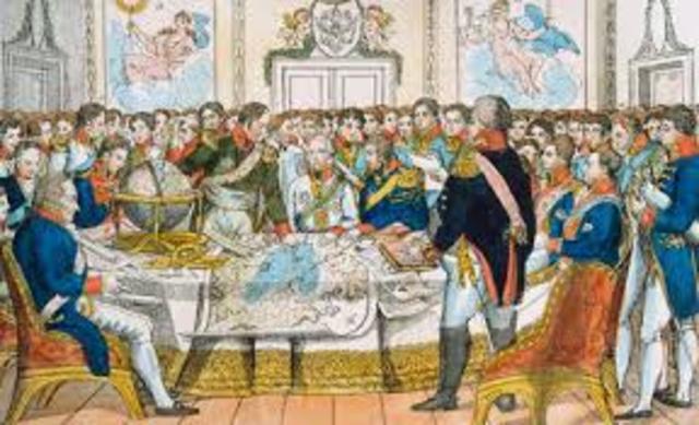 Abdictation of Napoleon. Congress of Viena