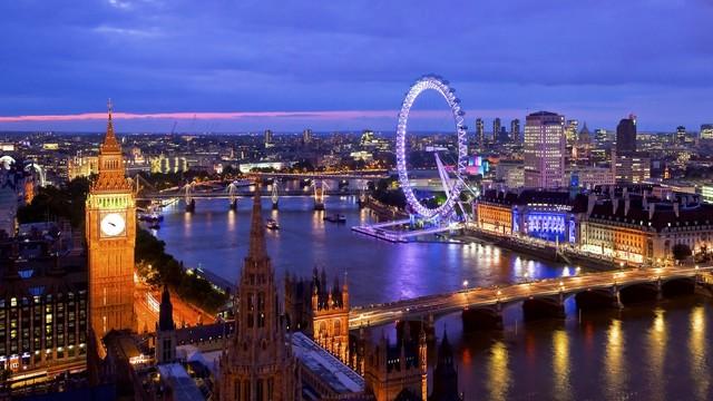 Arrive in London, England
