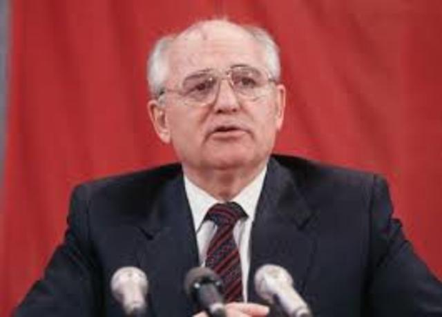 Gorbachhev comes to power in Soviet Union