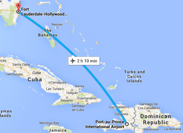 (34) Flight from Port-au-Prince to Fort Lauderdale (Connecting Flight)