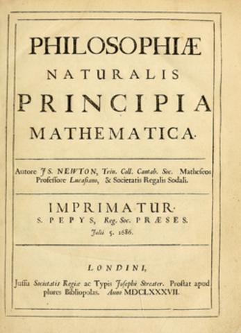 Newton publishes Principia Mathematica