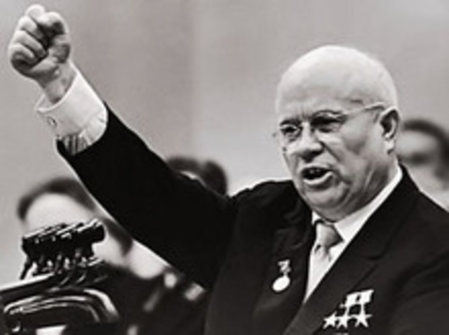 Krushchev's de-Stalinization speech; Hungary revolt