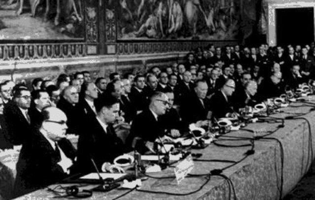 TReaty of Rome creates European Economic Community (ECC); Sputnik launched