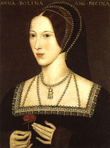 Henry VIII weds Anne Boleyn