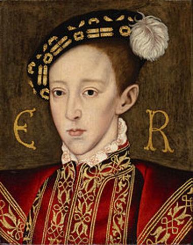 Edward VI becomes king of England