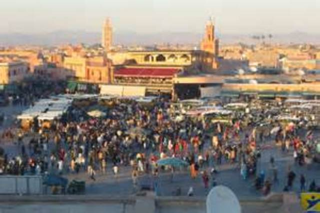 Flight to Marrakech, Morocco