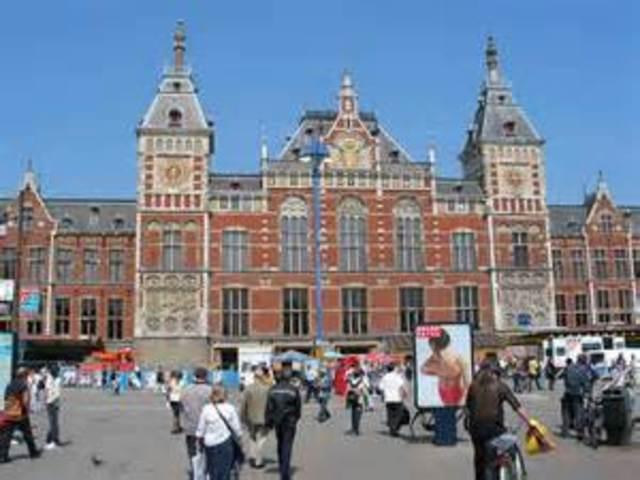 Flight to Amsterdam, The Netherlands