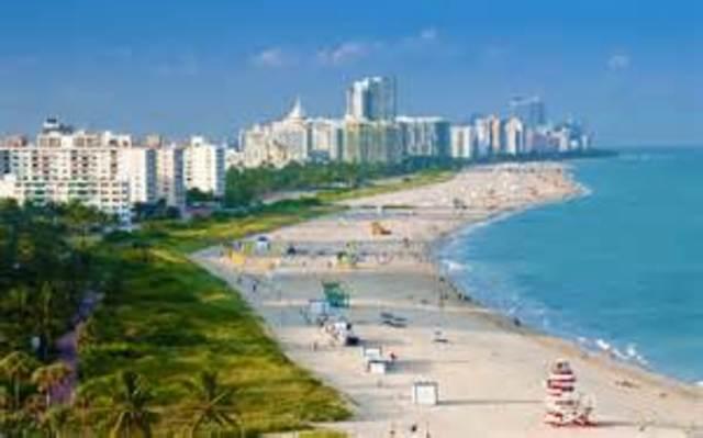 Flight to Miami, Florida