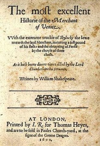 Merchant of Venice is published