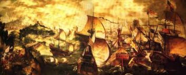 Defeat of Spanish Armada