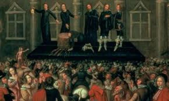 Charles I executed in England