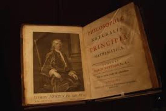 "Newton publishes ""Principia Mathematics"""