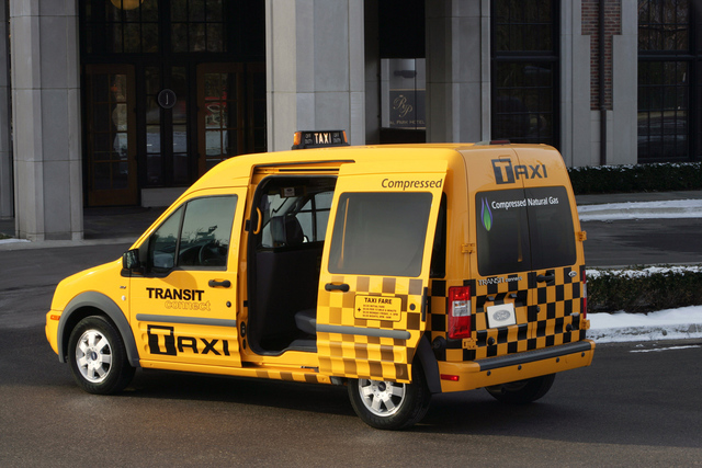 Take cab ride from airport to the hotel.